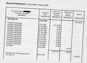 2007 mortgage statement.
