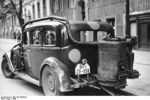Berlin, car with Wood Gas generator