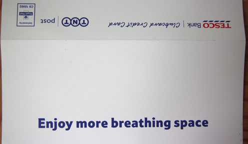 breathing space from Tesco