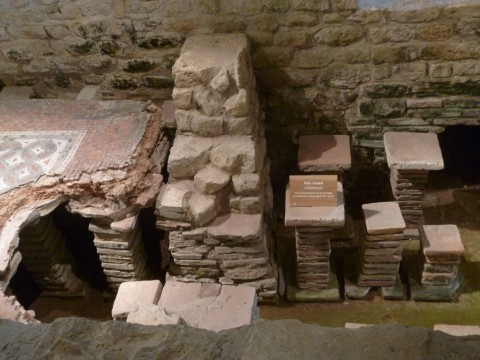 Roman central heating - a hypocaust