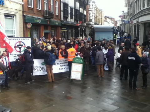 The NUT rally. can't work out why this iPod photo is such bad quality; is it me or do mobiles always take crap pictures?