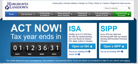 Hargreaves Lansdown know the tax year is ending