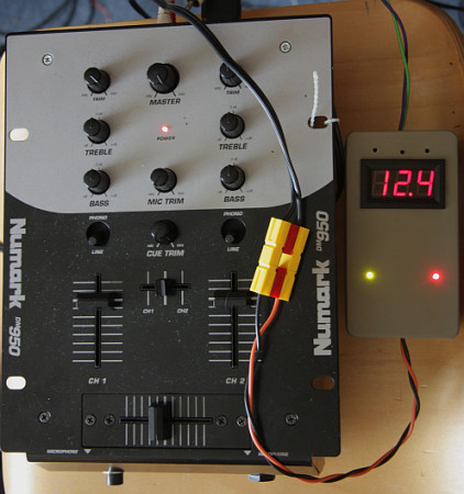 Mixer and 12V power supply, for about £20 all-in and a bit of Ermine design and build