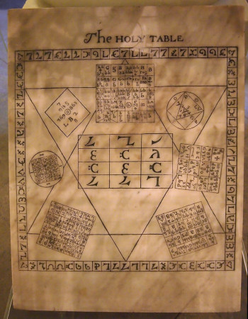 copy of John Dee's Enochian tablets