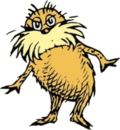 The Lorax. He's a fellow who can tell you a thing or two about buying thneeds on your credit card