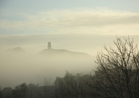Glastonbury Tor in the mist