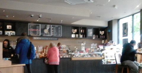A Costa Coffe joint. They all look the same, I hear. And why are mobile phones so crap at taking pictures...?