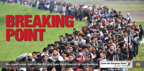 UKIP poster for leave says something to me, and I am not sure I like it