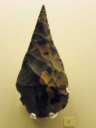 Flint axehead found near Hoxne