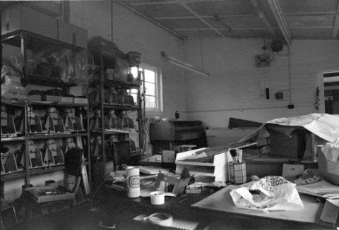 The Ermin place of work at my first company. The duff sensor heads are lined up on the back wall. I don't have a good explanation for the can of wifebeater on the bench, perhaps were were celebrating a big Egypt order. 'elf 'n'safety would shut this joint down i na jiffy. We used to wash PCBs in boiling Arklone, a CFC with the instruction 'don't fall down, else you'll stay down'. The vapour was heavier than air.
