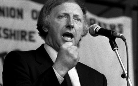 Arthur Scargil, 19 years a miner and rabble rouser deploying flying pickets against Edward heath. Met his match with Thatcher in 1984